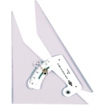 "Alvin® Clear-Angle 12"" Adjustable Triangle: Adjustable, Clear, Acrylic, 12"", Triangle"