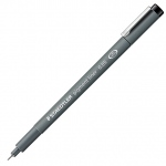 Staedtler® Pigment Liner .3mm: Black/Gray, Pigment, .3mm, Fine Nib, Technical, (model 30803), price per each