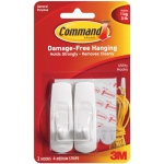 Command™ White Medium Utility Hooks: White/Ivory, Plastic, Hooks, (model 17001), price per pack