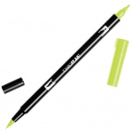 Tombow® Dual Brush® ABT Pen Chartreuse: Green, Double-Ended, Dye-Based, Brush Nib, Fine Nib, Brush Pen, (model 56514), price per each