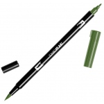 Tombow® Dual Brush® ABT Pen Dark Jade: Green, Double-Ended, Dye-Based, Brush Nib, Fine Nib, Brush Pen, (model 56519), price per each