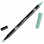 Tombow® Dual Brush® ABT Pen Asparagus: Green, Double-Ended, Dye-Based, Brush Nib, Fine Nib, Brush Pen
