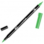 Tombow® Dual Brush® ABT Pen Light Green: Green, Double-Ended, Dye-Based, Brush Nib, Fine Nib, Brush Pen, (model 56521), price per each