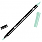 Tombow® Dual Brush® ABT Pen Mint: Green, Double-Ended, Dye-Based, Brush Nib, Fine Nib, Brush Pen, (model 56526), price per each