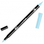 Tombow® Dual Brush® ABT Pen Sky Blue: Blue, Double-Ended, Dye-Based, Brush Nib, Fine Nib, Brush Pen, (model 56550), price per each
