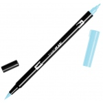 Tombow® Dual Brush® ABT Pen Glacier Blue: Blue, Double-Ended, Dye-Based, Brush Nib, Fine Nib, Brush Pen, (model 56554), price per each