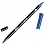 Tombow® Dual Brush® ABT Pen Navy Blue: Blue, Double-Ended, Dye-Based, Brush Nib, Fine Nib, Brush Pen, (model 56559), price per each