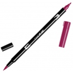 Tombow® Dual Brush® ABT Pen Wine Red: Red/Pink, Double-Ended, Dye-Based, Brush Nib, Fine Nib, Brush Pen
