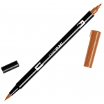 Tombow® Dual Brush® ABT Pen Burnt Sienna: Brown, Double-Ended, Dye-Based, Brush Nib, Fine Nib, Brush Pen, (model 56612), price per each