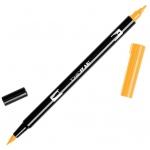 Tombow® Dual Brush® ABT Pen Chrome Yellow: Yellow, Double-Ended, Dye-Based, Brush Nib, Fine Nib, Brush Pen, (model 56616), price per each