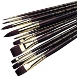Winsor & Newton™ Galeria™ Round Long Handle Brush #4: Long Handle, Synthetic, Round, Acrylic