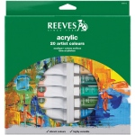 Reeves™ 22ml Acrylic 20-Color Set: Multi, Tube, 22 ml, Acrylic, (model 8390112), price per set