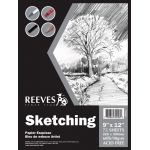 "Reeves™ 9 x 12 Sketching Pad: Fold Over, Pad, 9"" x 12"", 60 lb"