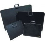 "Reeves™ Artist Portfolio 21.7"" x 29.2"" x 1.5"": Black/Gray, Vinyl, 1 1/2""d x 29 1/5""w x 21 7/10""h, (model 8490612), price per each"