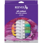 Reeves™ 10ml Oil Color Paint 24-Color Set: Multi, Tube, 10 ml, Oil, (model 8594302), price per set