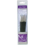Colour Shaper® Silicone Brush 5-piece Set Grey 0: Multi, Silicone, Multi, Firm, Multi, (model 12901), price per set