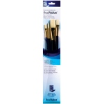 Princeton™ RealValue™ Oil Acrylic and Stain Bristle Brush Set: Long Handle, Bristle, Bright, Filbert, Flat, Round, Acrylic, Oil, Stain