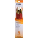 Princeton Oil Acrylic and Stain White Taklon Brush Set