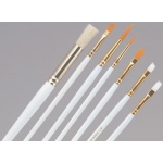 Princeton™ Brush Set Watercolor Acrylic and Tempera Flat 2 4 6 and 8: Synthetic, Flat, Acrylic, Tempera, Watercolor, (model 9300), price per set