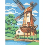 "Reeves™ Medium Painting By Numbers Set Windmill: 9"" x 12"""