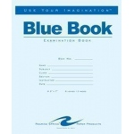 "Roaring Spring Exam Blue Books 8.5"" x 11"" 4 Sheet: Stapled, Book, 4 Sheets, 8 1/2"" x 11"", Line, (model ROA130), price per each"