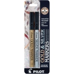 Pilot® Metallic Paint Marker Extra Fine Gold/Silver 2-Pack: Metallic, Paint, Fine Nib, (model SC-GS2), price per pack