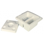 "Heritage Arts™ 6 1/2"" Square Brush Cleaning Basin: Clear, Basin, 6 1/2"", Cleaning Basin"