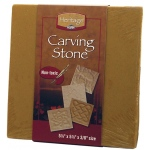 Heritage Arts™ Butterscotch Carving Tile: Brown, Tile