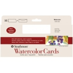 "Strathmore® Slim Size Watercolor Cards 3.75"" x 9"": White/Ivory, Envelope Included, Card, 10 Cards, 3 7/8"" x 9"", Cold Press, Watercolor, 140 lb"