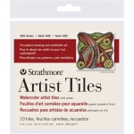 "Strathmore® 4"" x 4"" Watercolor Artist Tiles: White/Ivory, Tile, 10 Tiles, 4"" x 4"", Cold Press, Watercolor, 140 lb"