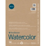 "Strathmore® 200 Series Skills 9"" x 12"" Tape Bound Watercolor Pad: White/Ivory, Pad, 30 Sheets, 9"" x 12"", Watercolor"