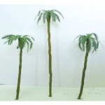 "Wee Scapes Architectural Model Assorted Palm Trees 1"" to 3"" 4-Pack"