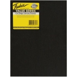 "Fredrix® Value Series Cut Edge 9"" x 12"" Canvas Panels 6-Pack: Black/Gray, Panel, 9"" x 12"", Acrylic, (model T37131), price per pack"
