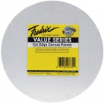 "Fredrix® Value Series Cut Edge 8"" Round Canvas Panels 6-Pack: White/Ivory, Panel, 8"" Round, Acrylic, (model T3734), price per pack"