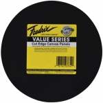 "Fredrix® Value Series Cut Edge 12"" Round Canvas Panels 6-Pack: Black/Gray, Panel, 12"" Round, Acrylic, (model T37351), price per pack"
