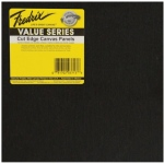 "Fredrix® Value Series Cut Edge 8"" x 8"" Canvas Panels 25-Pack: Black/Gray, Panel, 8"" x 8"", Acrylic, (model T37401), price per pack"