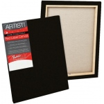 "Fredrix® Artist Series Red Label Red Label 11"" x 14"" Standard Stretched Black Canvas: Black/Gray, Panel, Gesso, 11"" x 14"", 11/16"", 11/16"" x 1 9/16"", Stretched"