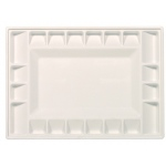 "Heritage Arts™ 21-Well Heavy-Duty Plastic 21-Well Heavy-Duty Classic Platform Palette: White/Ivory, Plastic, 21 Wells, Rectangle, 9 3/8"" x 13 1/4"", Tray"