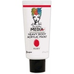 Ranger Dina Wakley Media Heavy Body Acrylic Paints: Ruby