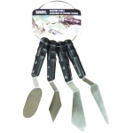 Liquitex® Free-Style™ 4-Piece Knife Ring Set: Stainless Steel, Assorted
