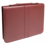 "Prestige™ Premier™ Burgundy Series Leather Presentation Case 8.5"" x 11"": Red/Pink, Leather, 8 1/2"" x 11"", (model PCL811-BU), price per each"