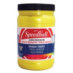 Speedball® Opaque Fabric Screen Printing Ink Citrine: Yellow, Jar, Fabric, 32 oz, Screen Printing, (model 4825), price per each