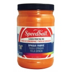 Speedball® Opaque Fabric Screen Printing Ink Sherbet: Orange, Jar, Fabric, 32 oz, Screen Printing, (model 4829), price per each