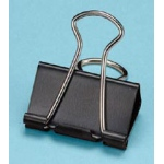 "Alvin® Binder Clips 1 1/4"": Black/Gray, 1 1/4"", (model 50155), price per box"