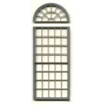 "1/4"" Scale Architectural Components: 53-Pane, Double Hung Round-Top Window, Set of 3"