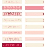 Making Memories Jet Adore Collection Journaling Vials