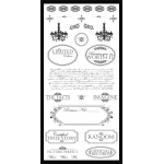 Delish Designs High Tea Collection Rub-On Transfer Pack: Limited Edition