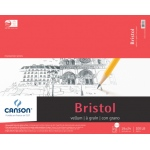 "Canson® Foundation Series 19"" x 24"" Foundation Bristol Sheet Pad: Fold Over, White/Ivory, Pad, 15 Sheets, 19"" x 24"", Vellum"