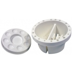 "Heritage Arts™ 6 1/2"" Round Brush Cleaning Basin: Clear, Basin, 6 1/2"", Cleaning Basin"
