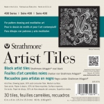 "Strathmore® Artagain® 6"" x 6"" Coal Black Artist Tiles: Black/Gray, Tile, 30 Tiles, 6"" x 6"", Medium, Mixed Media, 60 lb, (model ST105-974), price per 30 Tiles pad"